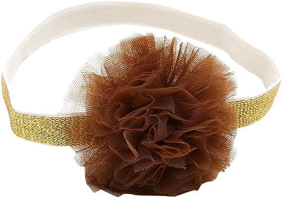 LABIUO 3Pcs B/éb/é Fille Bandeau Cheveux Florale Bowknot Turban Bandeau Elasticit/é Doux Coton Bandeaux Accessoires