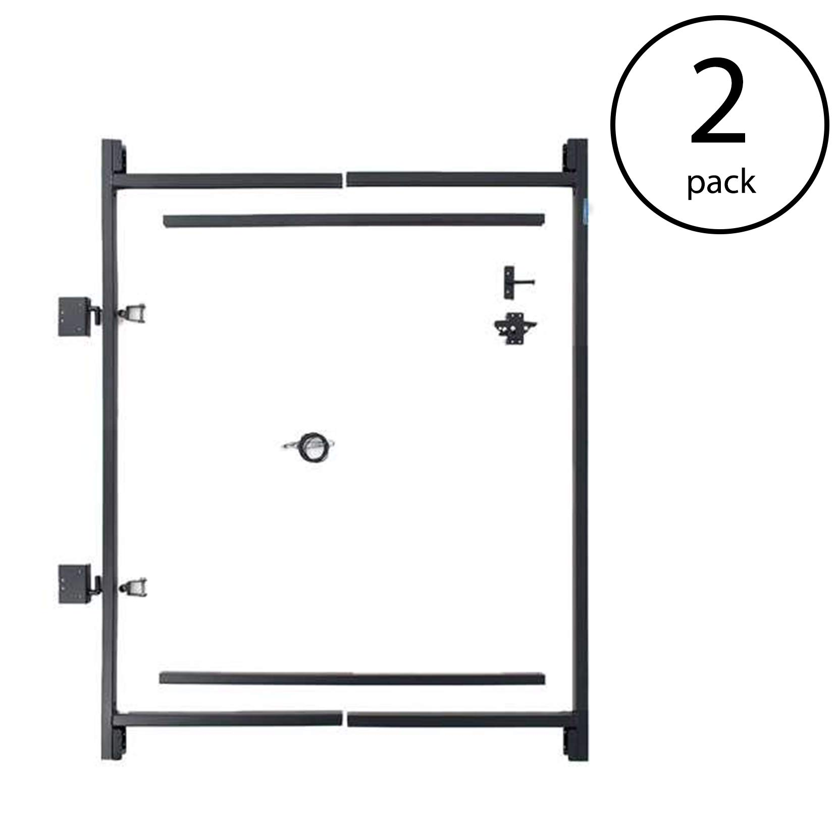 Adjust-A-Gate Steel Frame Gate Kit, 36''-60'' Wide Opening Up to 7' High (2 Pack) by Adjust-A-Gate (Image #1)