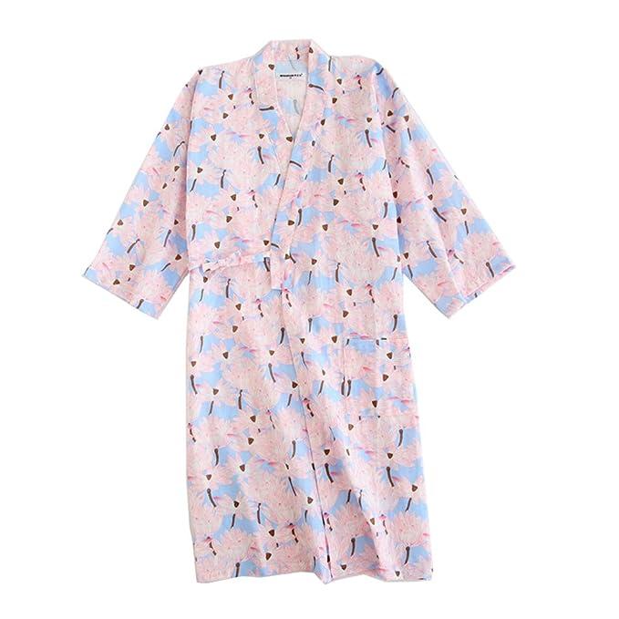 Fancy Pumpkin Pijama de Estilo japonés para Mujer Pijama de Kimono Pijama de Toga