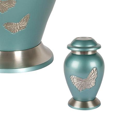 Perfect Memorials Butterfly Gathering Brass Keepsake Cremation Urn