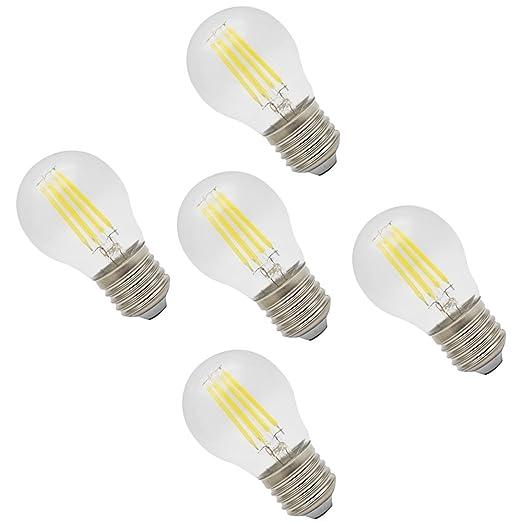 5X E27 Bombilla Edison 4W Bombillas LED Blanco Frío 280LM Super Brillant Filament Bulb Sustitución del