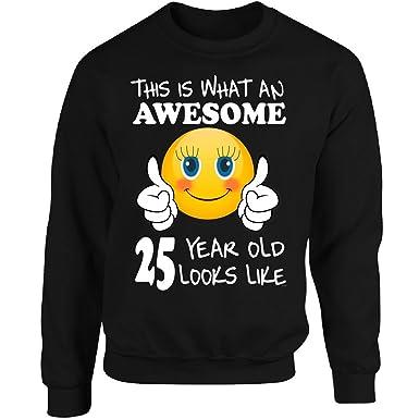 Emoji Birthday 25th Presents Woman 25 Year Old Gift