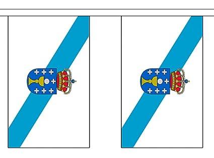 España Galicia bandera de poliéster banderines de 3 M (10)  con ...