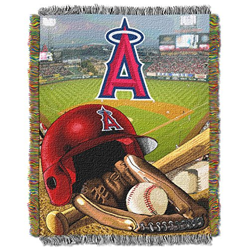 The Northwest Company MLB Los Angeles Angels Home Field Advantage Woven Tapestry Throw, 48