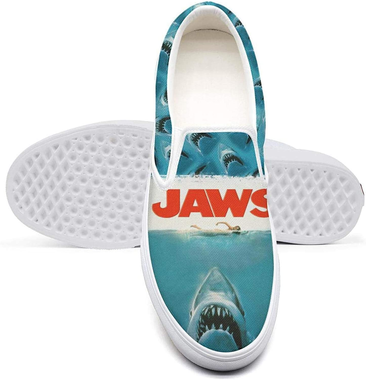 Movie Jaws Poster College Student Classic Canvas Sneakers Unique Runners
