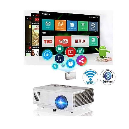 Proyector Mini proyector Bluetooth portátil WiFi Cine en ...