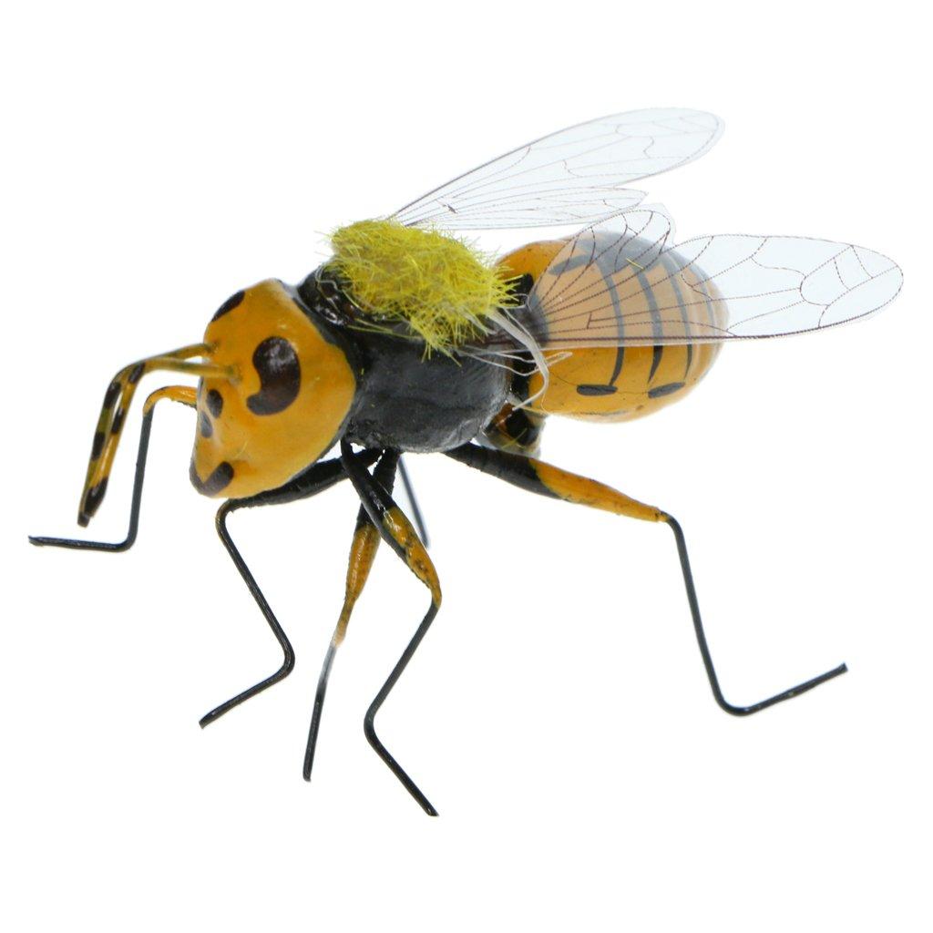 KESOTO 3x Bee Insect Animal Ornament Fairy Garden Miniature Flower Pot Planter Decor Children Outdoor Toys