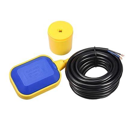 sourcingmap® C1CJ Interruptor de flotador de nivel de agua de fluido líquido Sensor Controlador STUKK
