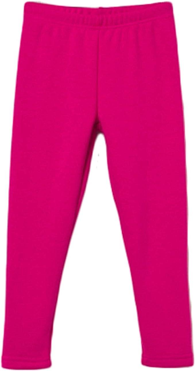Bossini Girls Chill Solid Winter Warm Fleece Leggings,US Size 4T 16