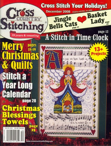 Country Stitch Magazine - Cross Country Stitch, December 2008 Issue