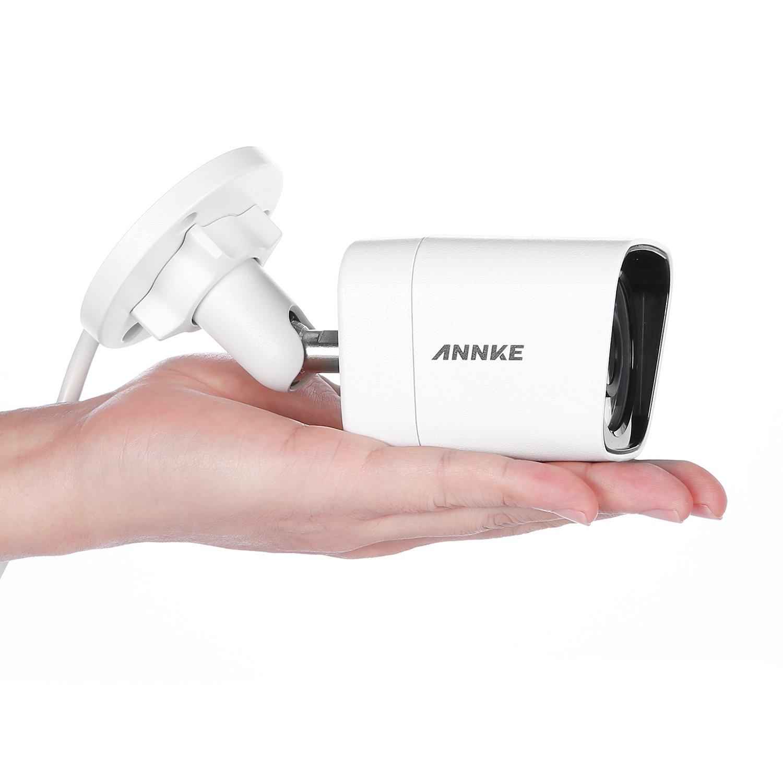 ANNKE 2 0 Megapixels POE IP Camera with Indoor/Outdoor IP66 metallic  weatherproof Housing, Super Day/Night Vision Security Camera