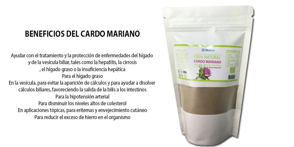 Cardo Mariano en polvo -200 g -100% Natural y ecológico Rico en Silimarina Limpiador y Desintoxicante Natural del Hígado: Amazon.es: Alimentación y bebidas