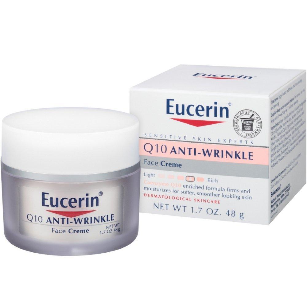 Eucerin Sensitive Facial Skin Q10 Anti-Wrinkle Sensitive Skin Creme, 1.7 Ounce Jar by Eucerin