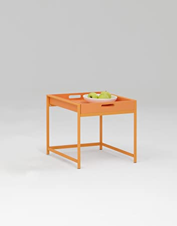 Incredible Lhs Ann Serving Side Table Tray Finished In Orange Dmf Gamerscity Chair Design For Home Gamerscityorg