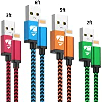 iPhone Charger Cord 4Pack iPhone Charger Cable MFi Certified Lightning Cable Fast iPhone Charging Cord Nylon Braided iPhone Charging Cable Compatible with Phone 11 Pro max/XR max/8/7/6/6s/5/se,iPad
