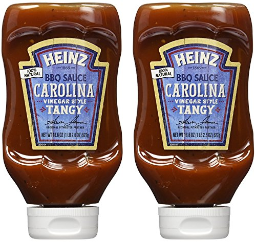 Heinz BBQ Sauce - Carolina - Vinegar Style Tangy - Net Wt. 18.6 OZ (527 g) Per Bottle - Pack of 2 Bottles (Homemade Sauce Bbq)