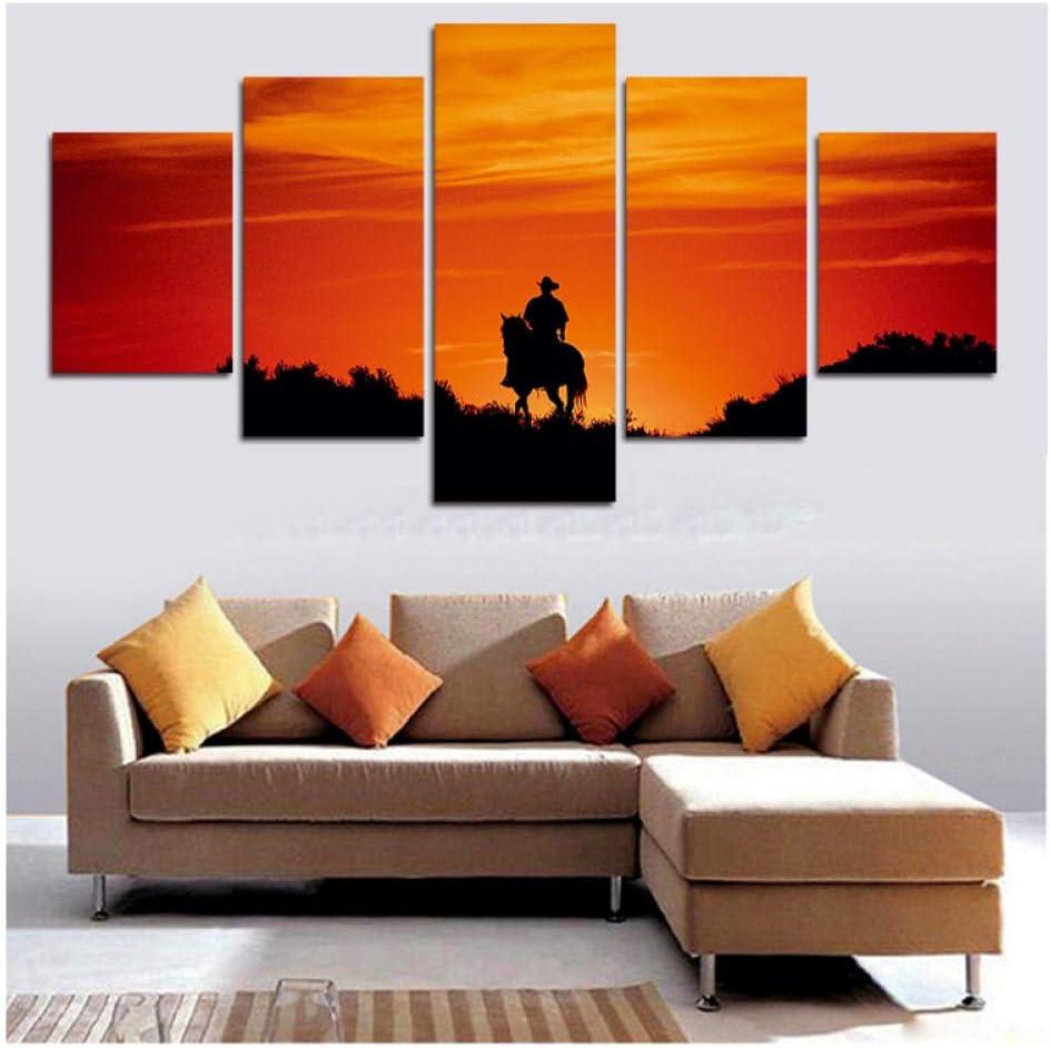 Decoración Guapo Humano Caballo Paisaje Carteles Hd Impreso en lienzo Arte de la pared Imágenes para sala de estar-30x40 30x60 30x80cm Sin marco