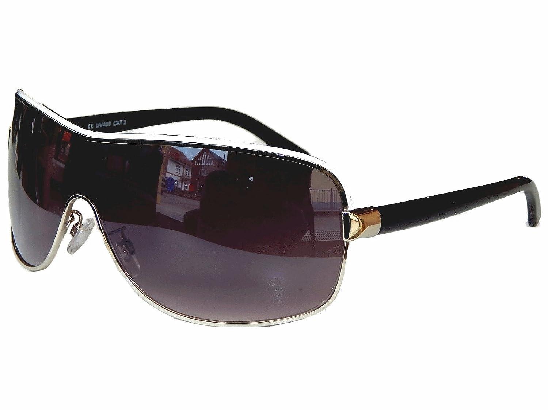 Aviator Brille Sonnenbrille Pornobrille Fliegerbrille Moderner Look Auswahl M 7 (Gold Braun ) kpE5HC