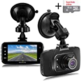 """Senwow Dash Cam (8GB Card Included) 1080P Full HD Car Camera 2.7"""" LCD Driving Video Recorder Dashboard DVR Built In G-Sensor, Loop Recording, Night Vision, Parking Monitor, Motion Detection, WDR"""