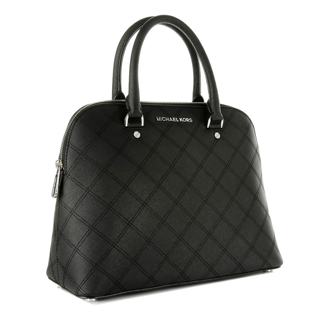 abc88a845a53d0 MICHAEL Michael Kors Cindy Black Large Dome Satchel one size Black:  Amazon.co.uk: Shoes & Bags