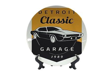 Piatti Garage Classic di Detroit Ceramica Stampato: Amazon ...