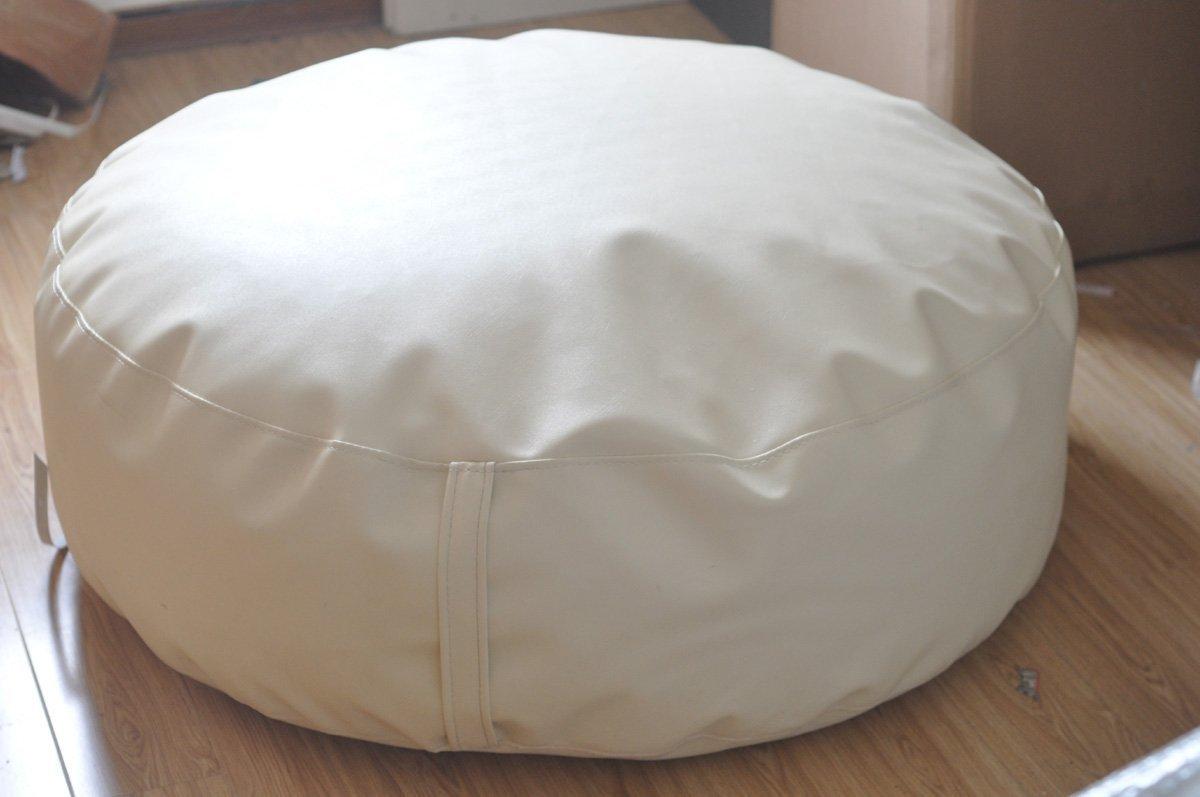 Round White Newborn Posing Bean Bag 80X40 Photo Prop by backdropday (Image #5)