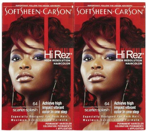 - Hi Rez Permanent Hair Color, Scarlet Splash, 2 pk