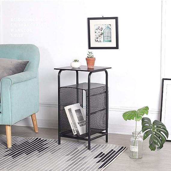 Amazon.com: Mesa auxiliar para sofá, mesa auxiliar de metal ...