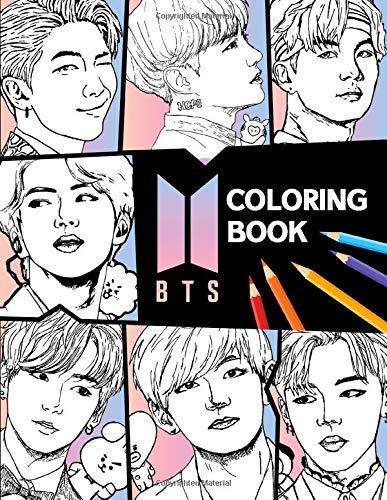 Bts Coloring Book Bangtan Boys Coloring Books For Kpop Army