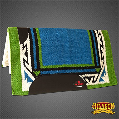 HILASON Made in USA Western Wool Felt Saddle Blanket Pad Turquoise Green