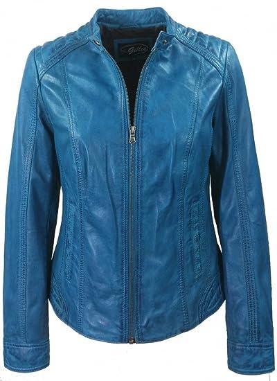 J.Gillie Damen Lederjacke Sheepnappa Oralie blau  Amazon.de  Bekleidung 9789389605