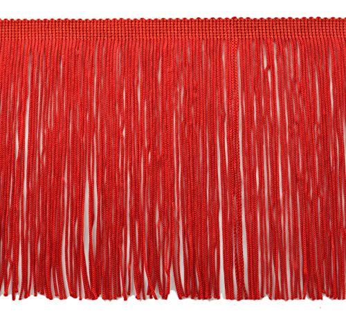 DÉCOPRO 11 Yard Value Pack of 6 Inch Chainette Fringe Trim, Style# CF06 Color: Red - 06 (32.5 Feet / 10M)