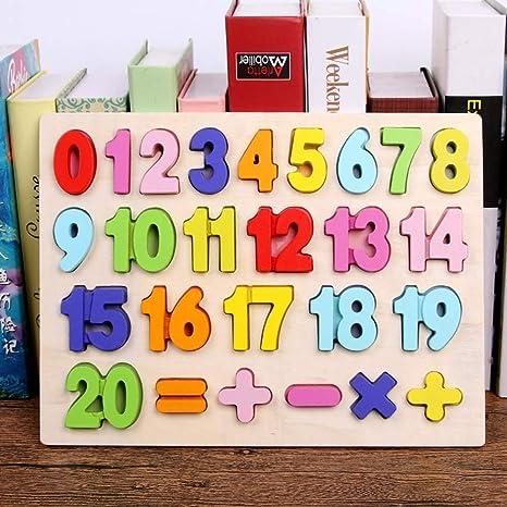 Wooden Number Tracing Board Kid Educational Toy Kindergarten Preschool Gift 0-20