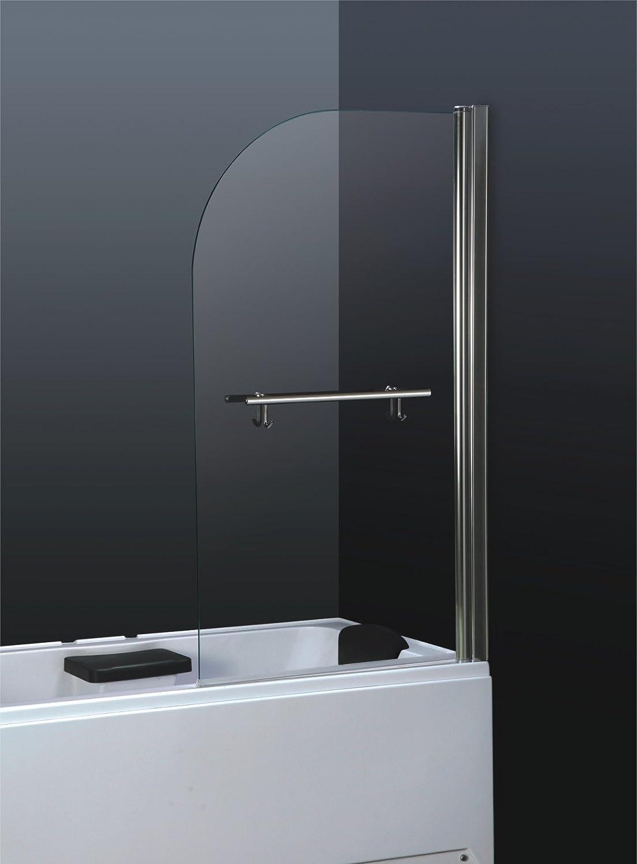 6 mm de cristal para baño vidrio templado de seguridad con texto en inglés de ducha pantalla con toallero de barra: Amazon.es: Hogar