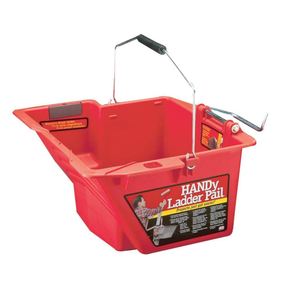 1-gal. Red Ladder Bucket with Secure Patented Bracket