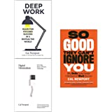 Cal Newport Collection 3 Books Set (Deep Work, Digital Minimalism, So Good They Cant Ignore You)