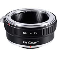 Nikon to Fuji X Adapter,K&F Concept Lens Mount Adapter for Nikon AI/F Mount Lens to Fujifilm X Series Mirrorless FX…