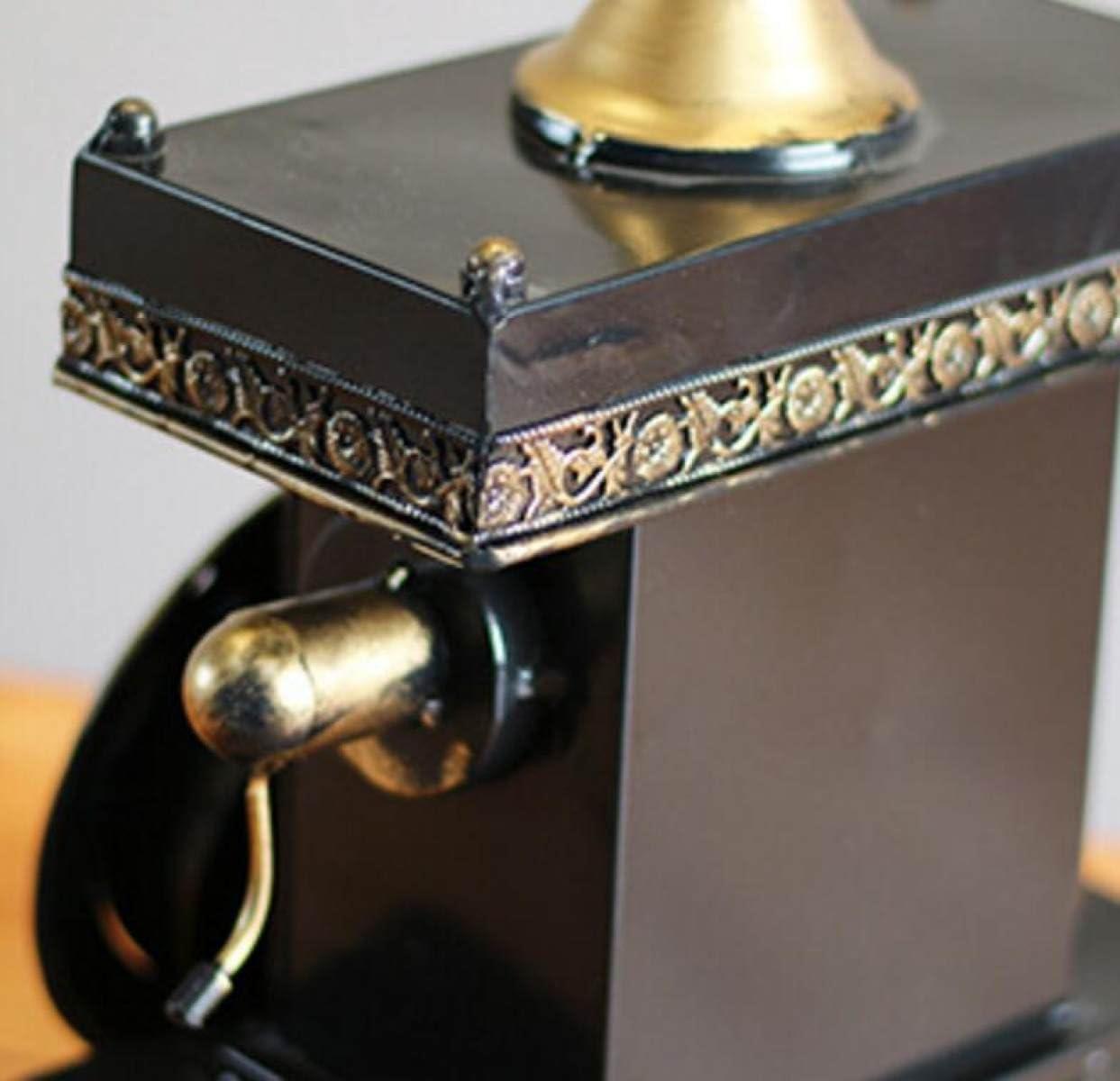 LJXWH Accueil Horloge Mod/élisation Bureau Continental Fer R/étro D/écorations De Table T/él/éphone Vintage Style Horloge