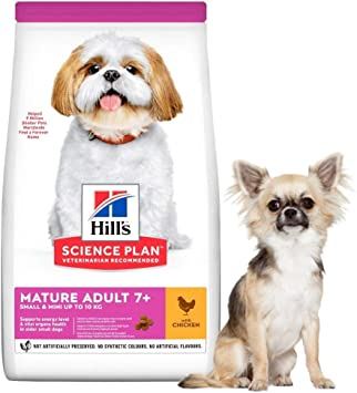 Hill S Science Plan Mature Adult 7 Small And Mini Dry Dog Food Chicken Flavour 3kg Amazon Co Uk Pet Supplies