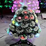 JIN Fiber Optic Christmas Tree Creative LED Colorful Glitter Decorations Gift 2 Pieces , 60cm