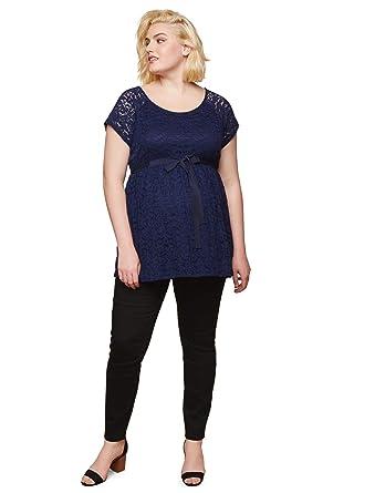 c5aab739ba791 Motherhood Plus Size Petite Secret Fit Belly Twill Skinny Leg Maternity  Pants at Amazon Women's Clothing store: