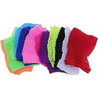 Toyvian 12 pares de luvas sem dedos curtas arrastão para decorações de fantasia de festa (cores sortidas)