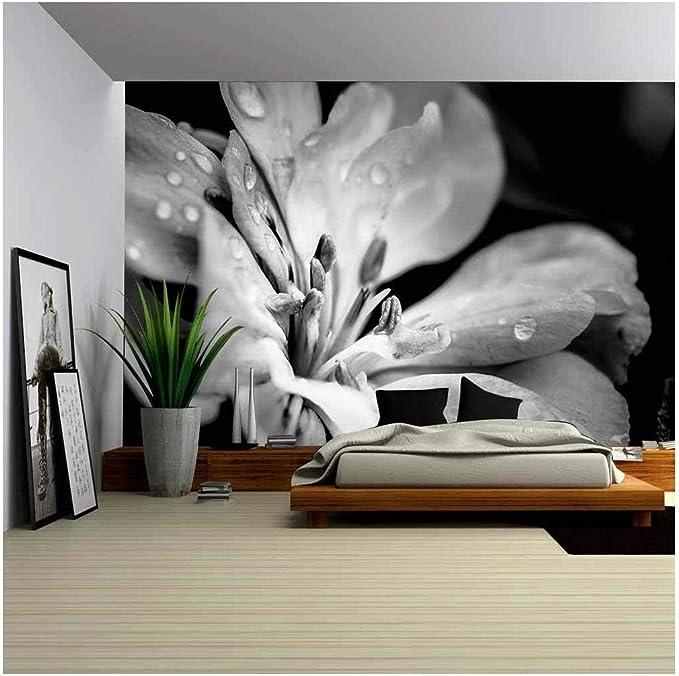 Wall26 Flower With Raindrops Canvas Art Wall Mural Decor 66 X96 Amazon Com