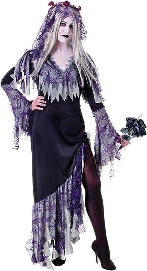 Bristol Novelty AC990 disfraz de novia Zombie, gris, Reino Unido ...