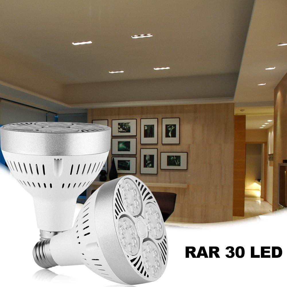 ELEOPTION PAR30 LED Light Bulbs Long Neck E26 E27 Base 35W 2800LM 45 Degree Beam Angle Daylight White Flood Light Bulbs 150W Halogen Equivalent For Garage Factory Warehouse Sport Hall Security