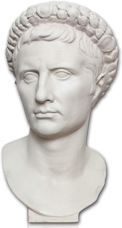 Römer Statue Forum Traiani Büste Kaiser Traian bronzefarben