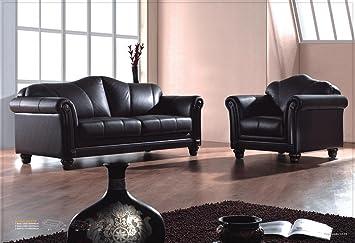 Voll Leder Sofa Garnitur Kolonial Stil Polstermöbel Sessel