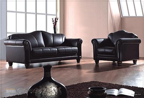 Voll-Leder-Sofa-Garnitur Kolonial-Stil Polstermöbel-Sessel ...