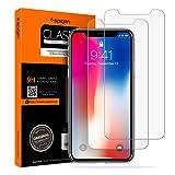foto                       Spigen Vetro Temperato iPhone X, iPhone 10, 2Pezzi, HD (0.33mm Premium Ver.) Pellicola Protettiva iPhone X, protezione per schermo (057GL22565)