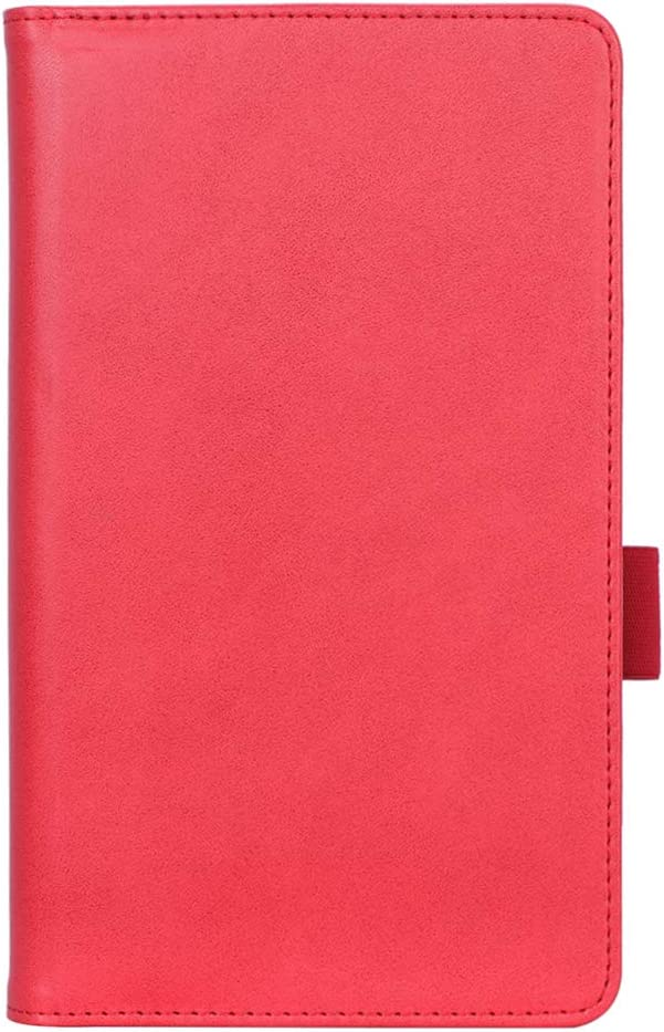 ISIN Premium PU Folio Protective Case Stand Cover for 7.0-inch Lenovo Tab M7 TB-7305F TB-7305I TB-7305X(No for Lenovo Tab7 TB-7504,Tab7 Essential TB-7304, Tab E7, Tab V7) Android Tablet PC(Red)
